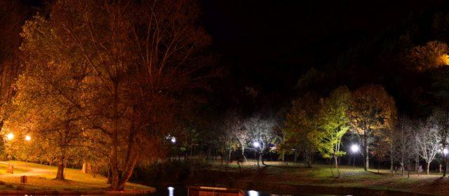 Нощна снимка на парк Бачиново