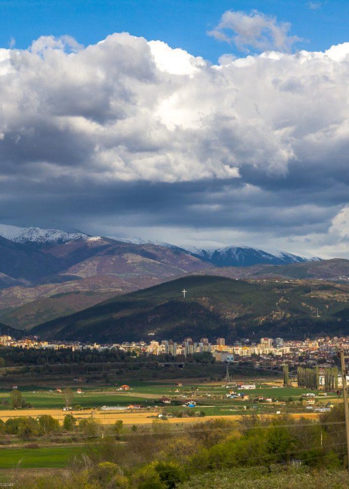 Благоевград – гледка от село Зелен дол