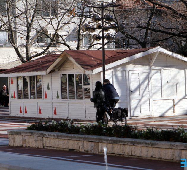 Готвои са коледните къщички в Благоевград